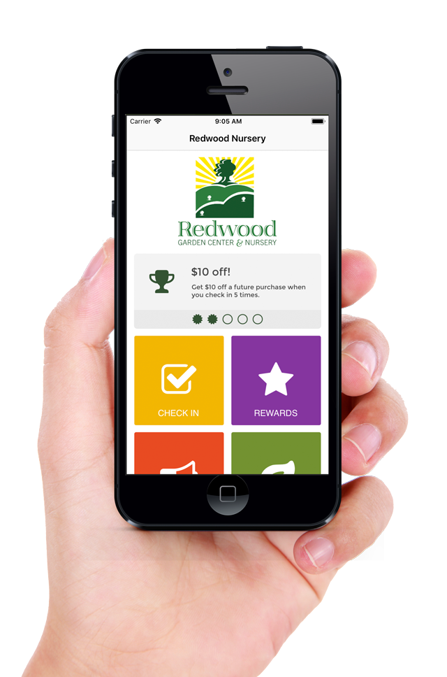 , Mobile App, Redwood Nursery & Garden Center